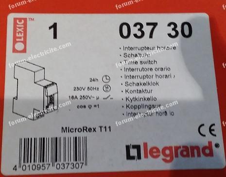 interrupteur horaire037 30 Legrand
