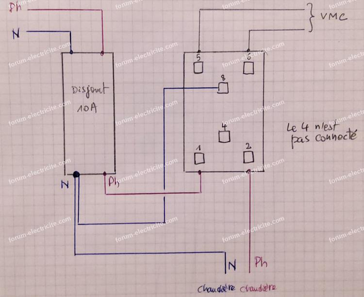 schéma relais dsc vmc gaz
