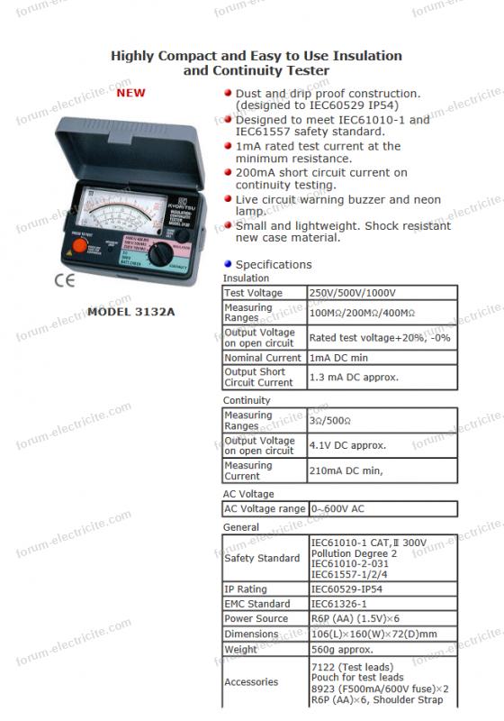 19942 kyoritsu modele 3132a