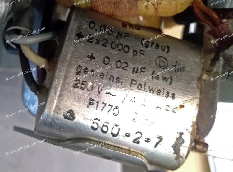 condensateur moteur machine à coudre
