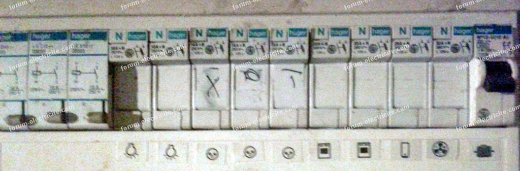 tableau électrique après court-circuit