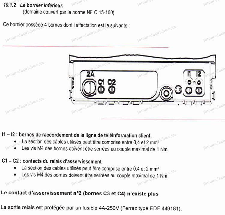 bornier compteur électronique Sagem C1000
