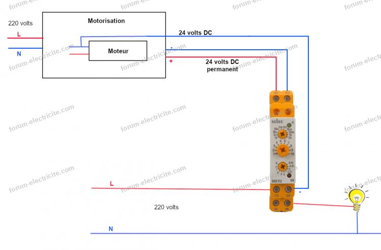 schéma branchement relais