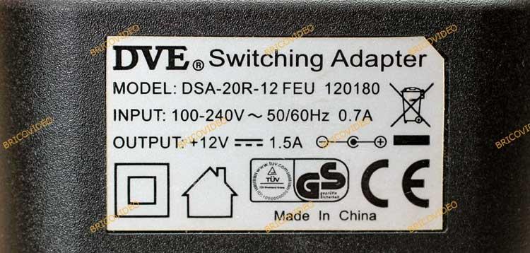 adaptateur secteur tension fixe 12 volts