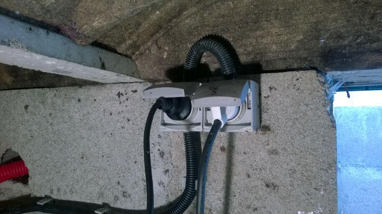 alimenter un garage éclairage et prises