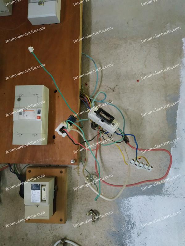 ancienne installation branchement relais J/N EDF