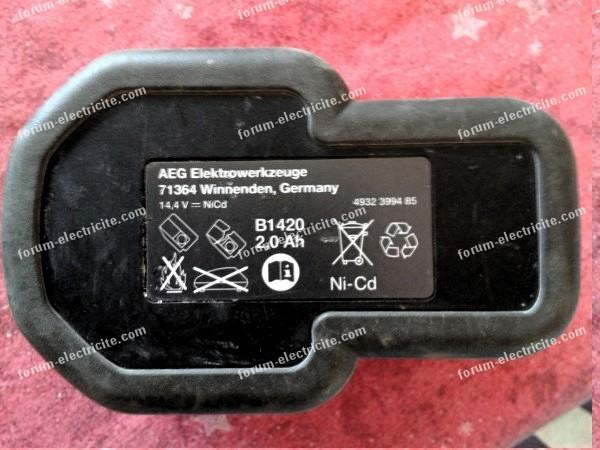 Batterie B1420 compatible AEG BS 14X