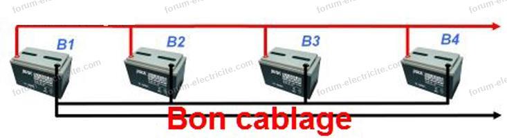 batteries raccordées en parallèle