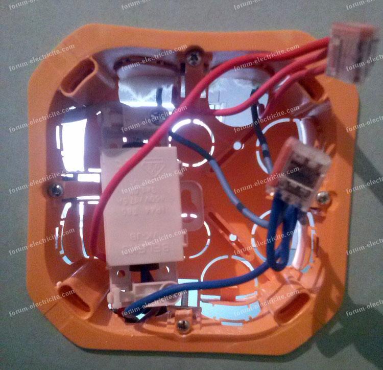 branchement boîte de dérivation circuits lumière