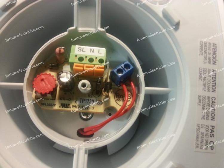 branchement électrique aérateur Celcias