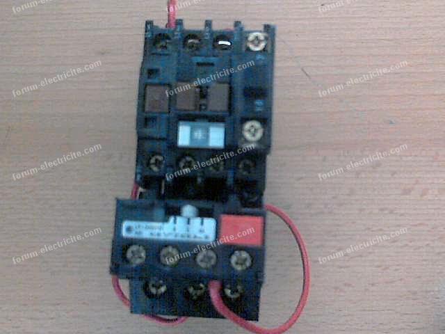 Branchement boitier Télémécanique LE1-D093