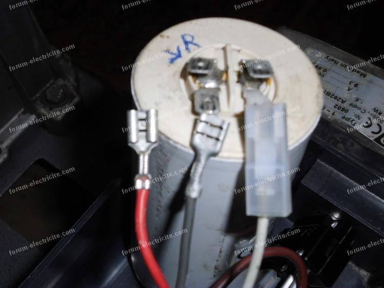 branchement condensateur compresseur 02