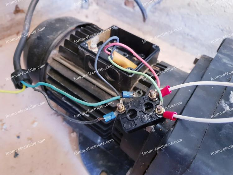 Branchement condensateur pompe de piscine