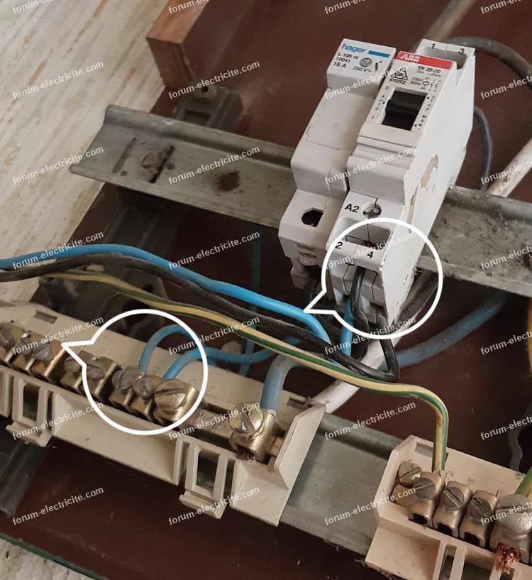 branchement contact EDF HP/HC