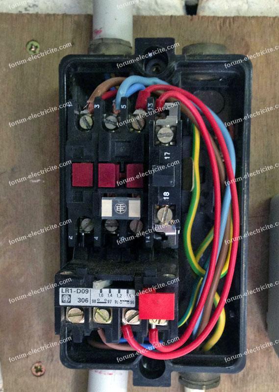 branchement contacteur LR1-D09