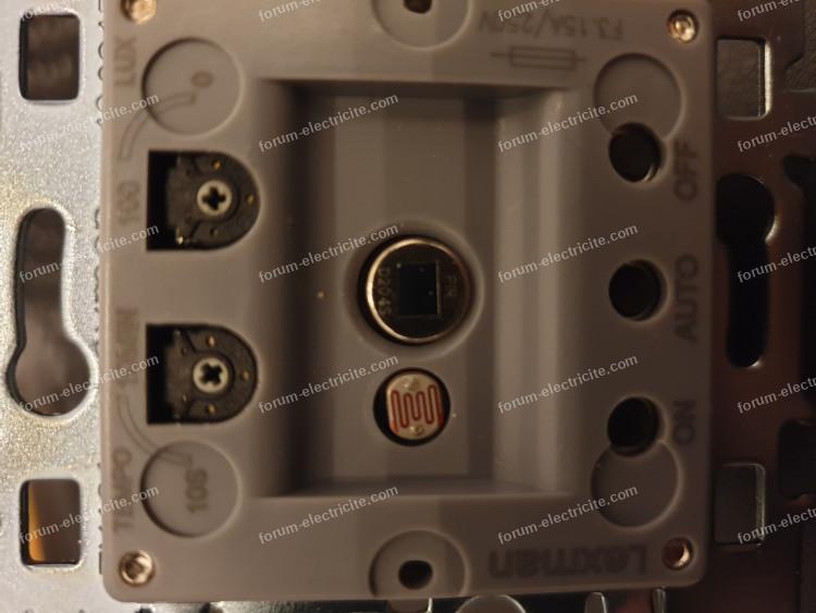 branchement détecteur 3 poussoirs