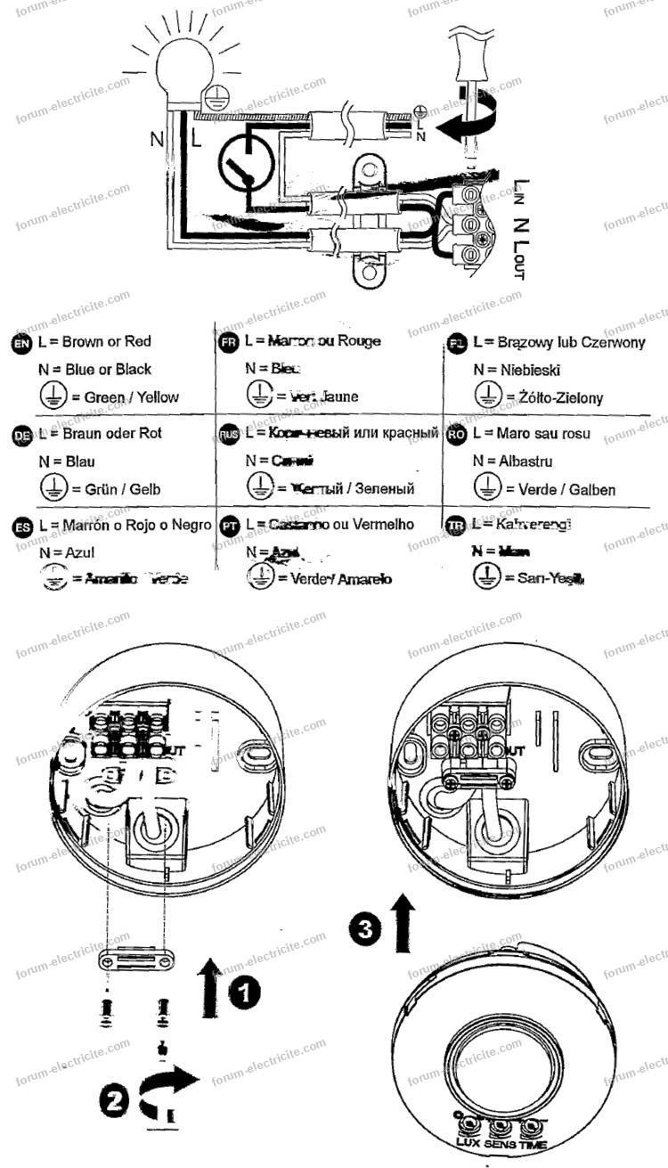 branchement détecteur de mouvement Blooma