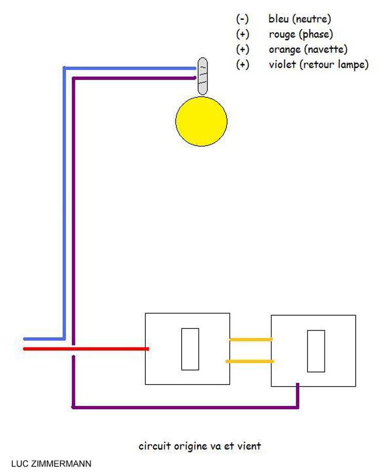 Brancher d tecteur de pr sence sur un va et vient for Brancher un detecteur de mouvement