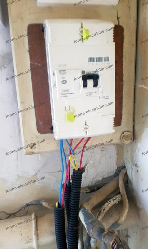 branchement électrique directement sur le disjoncteur edf