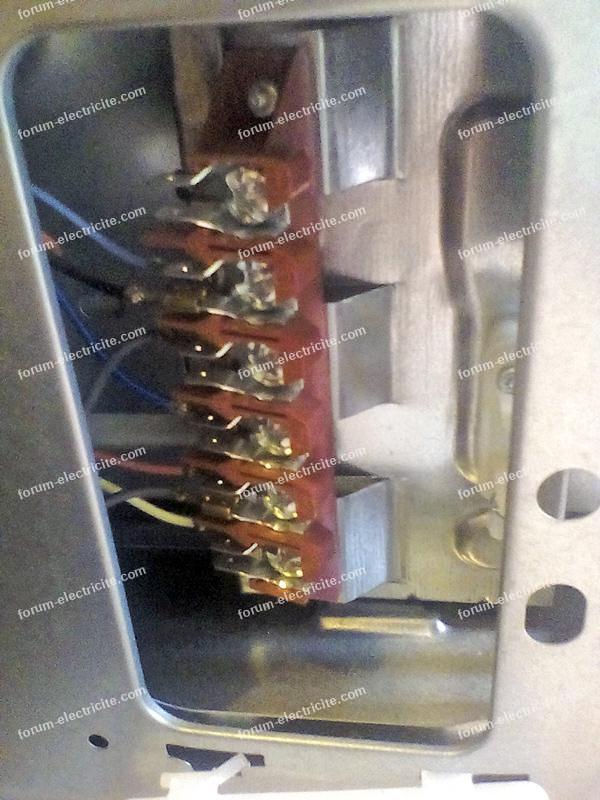 branchement électrique cuisinière Mixte Brandt