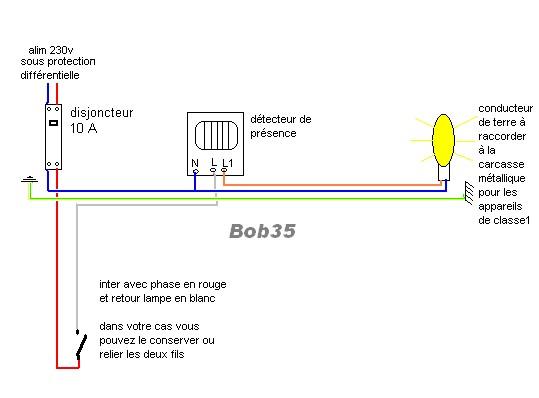 Forums lectricit installation d tecteur de pr sence - Detecteur de presence ...