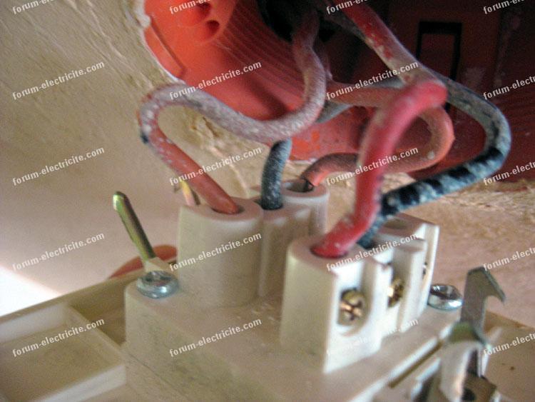 branchement fils électrique ancien interrupteur