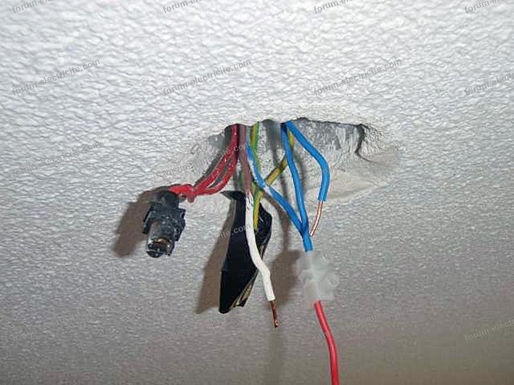 Probl me connectique pour brancher luminaire conseils des - Installer luminaire sur douille dcl ...