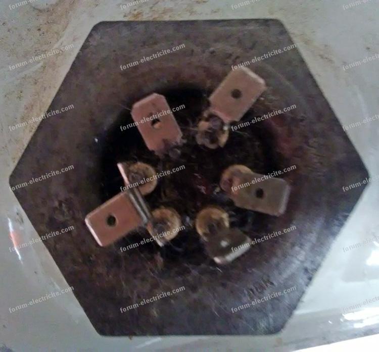 branchement fils résistance radiateur bain d'huile
