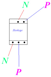 branchement lectrique maison horloge modulaire un. Black Bedroom Furniture Sets. Home Design Ideas