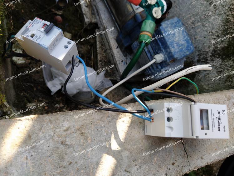 branchement horloge programmable pompe de puits
