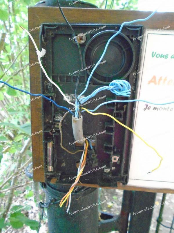 branchement interphone Extel fils platine de rue