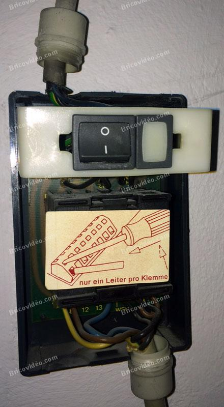 branchement interrupteur programmable