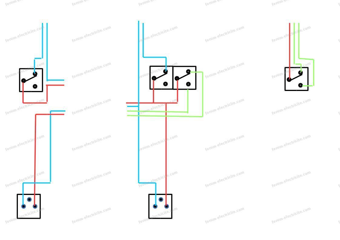 Schéma raccordement interrupteur et prise