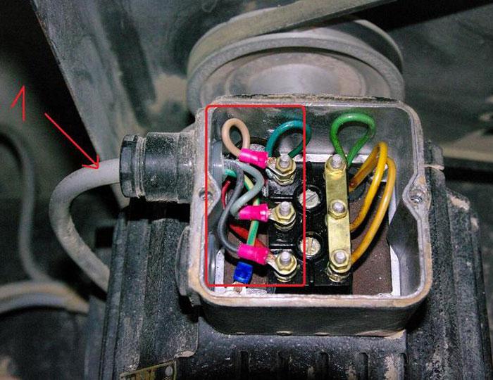 Branchement moteur compresseur