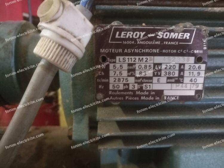 branchement moteur électrique Leroy Somer