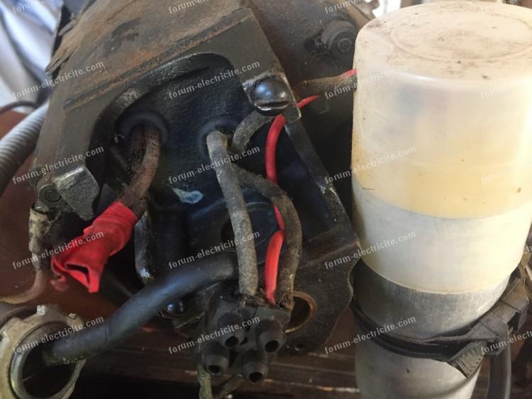 branchement moteur vieille machine à coudre