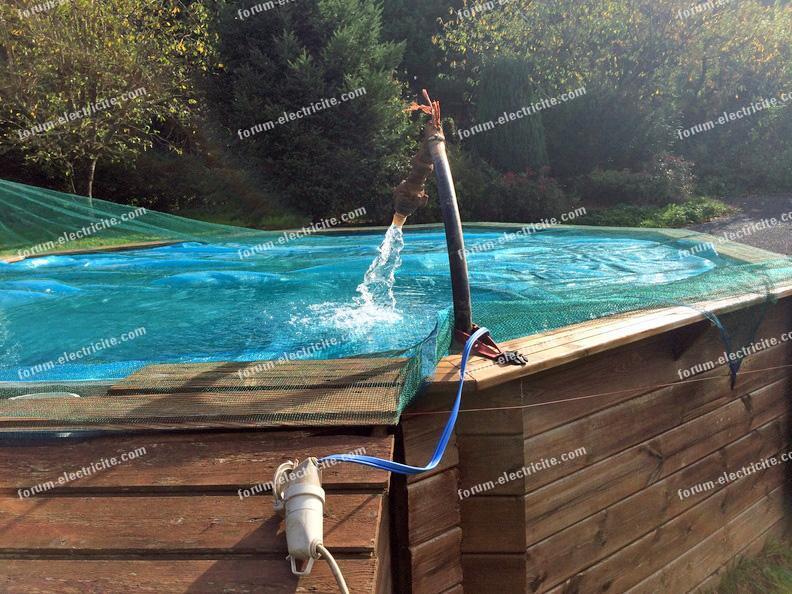 branchement pompe de piscine
