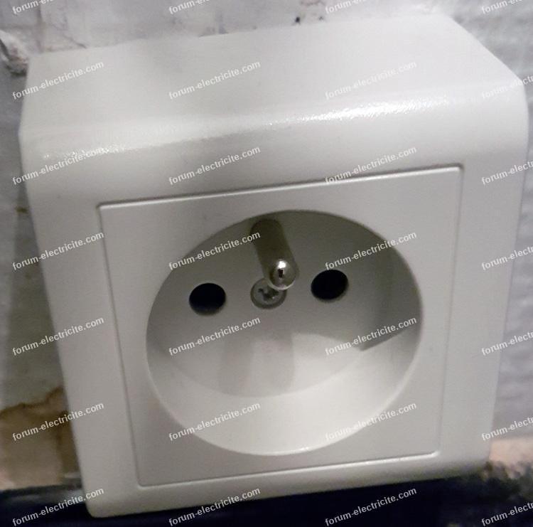 branchement prise machine à laver