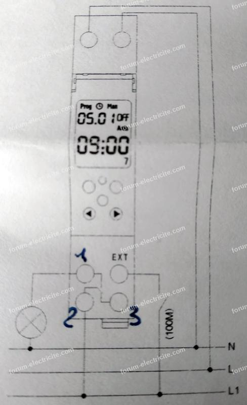 Branchement programmateur digital TM610