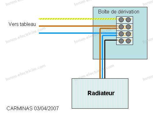 branchement domino radiateur électrique