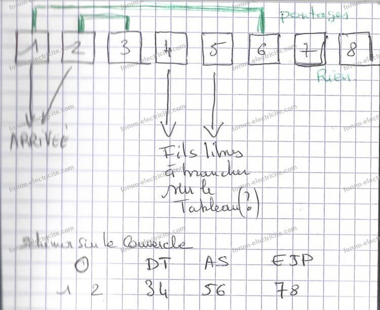 schéma branchement relais J/N EDF