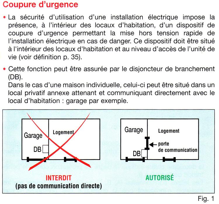 branchement securite electrique - Tableau Electrique Maison Individuelle