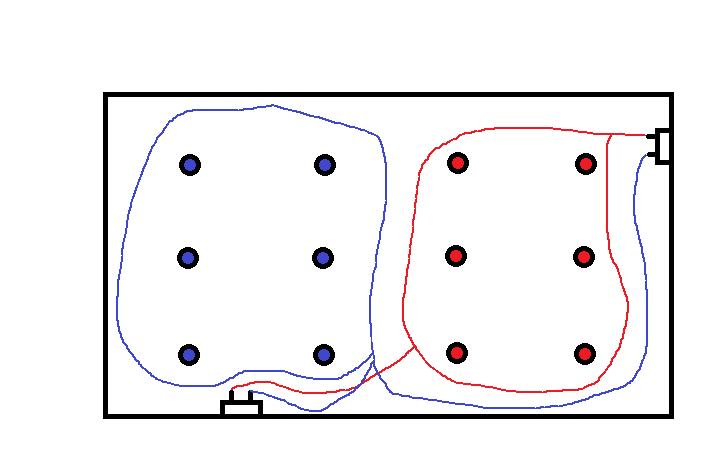 Branchement spots avec deux interrupteurs