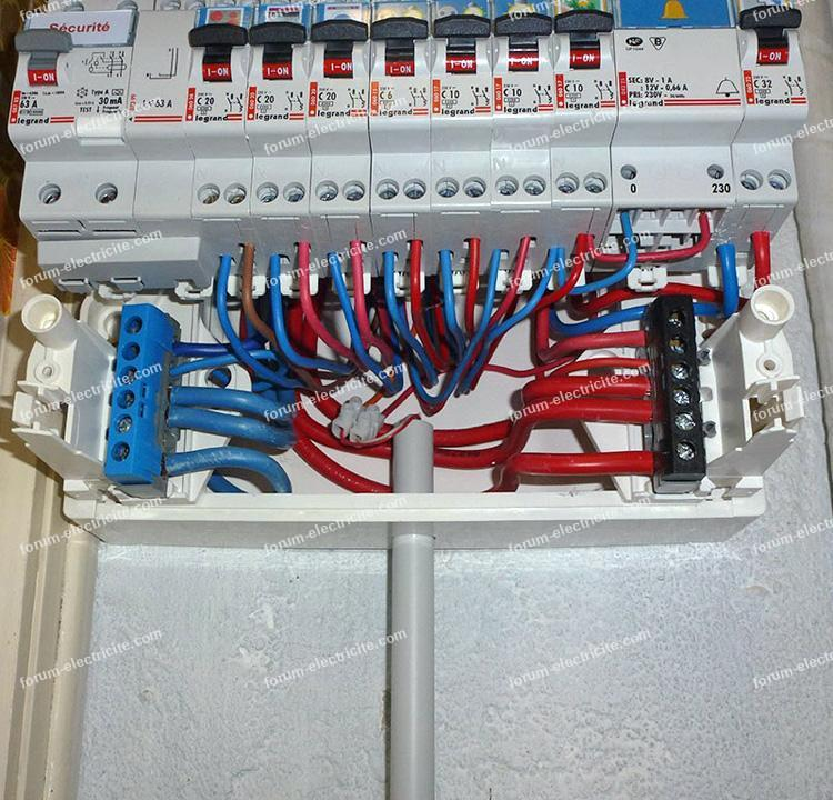 branchement tableau électrique