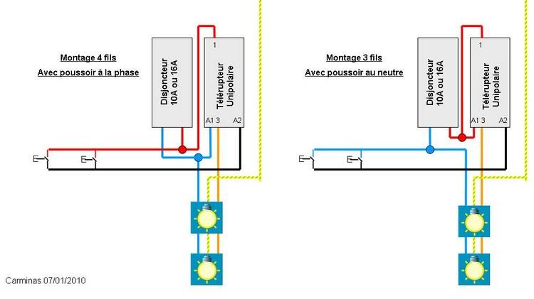 Forum conseils des internautes d pannage lectricit remplacer un t l rupteur mg tl16 hs - Branchement luminaire 3 fils ...