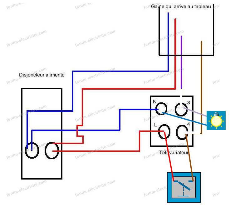 questions lectricit branchement t l variateur ne. Black Bedroom Furniture Sets. Home Design Ideas