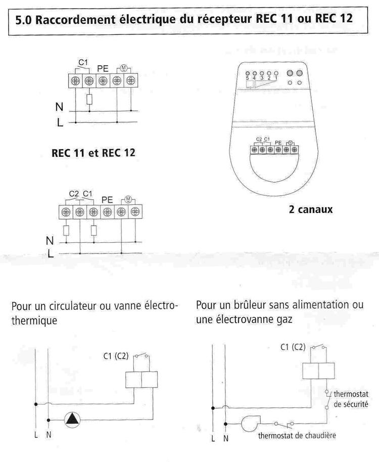 schema branchement thermostat chaudiere gaz. Black Bedroom Furniture Sets. Home Design Ideas