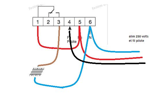 branchement thermostat