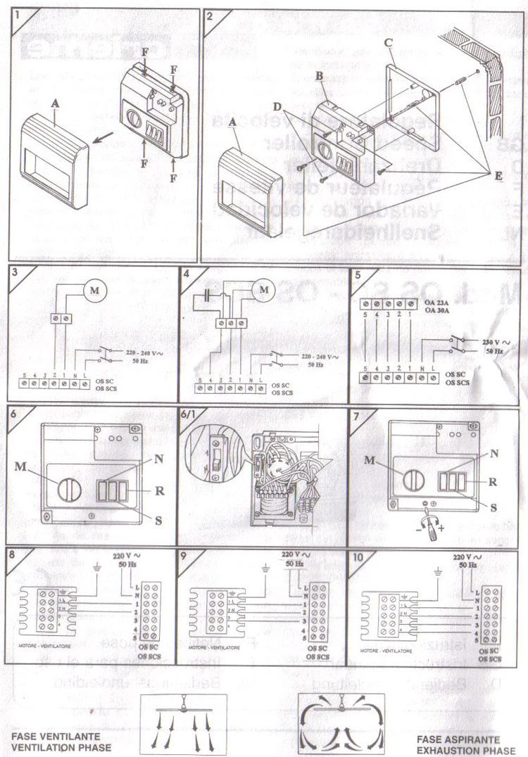 sch ma branchement lectrique d 39 un variateur sur un extracteur. Black Bedroom Furniture Sets. Home Design Ideas