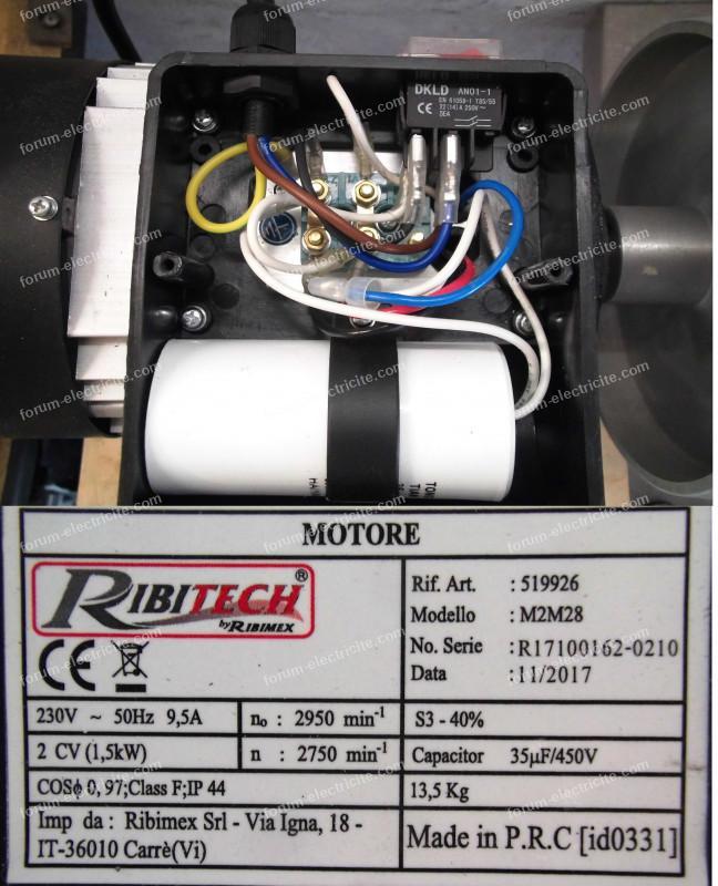 branchement variateur moteur